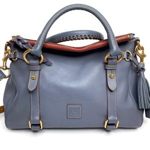 Dooney & Bourke DB Gray Blue Steel Florentine Bag